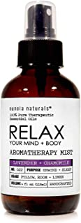 Relax- Lavender + Chamomile Aromatherapy Mist, Lavender Pillow Spray, Lavender Sleep Spray, Relaxing + Calming Aroma, Bedt...