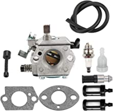 Dxent WT-16B Carburetor for Stihl 028 028WB 028AV Super Chainsaw Parts Tillotson HU-40D Carb with Oil Fuel Filter Line Kit