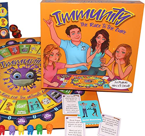 family board games Immunity - A Contagiously Fun Family Board Game of Luck for Kids and Adults, Enjoy Infectious Laughter on Family Game Night