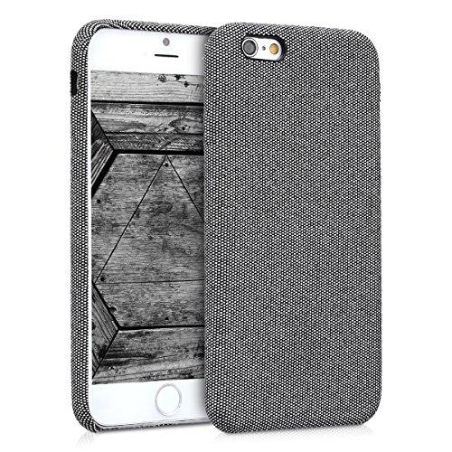 kwmobile Cover Compatibile con Apple iPhone 6 / 6S - Custodia Morbida per Cellulare - Back-Case Protettiva - Soft-Case Tessuto Grigio