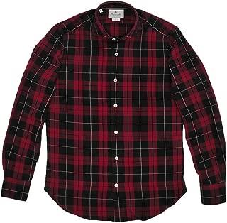 (ジャンネット)GIANNETTO 長袖シャツ メンズ フランネルシャツ レッド & ブラック WASHING DIVISION 正規取扱店