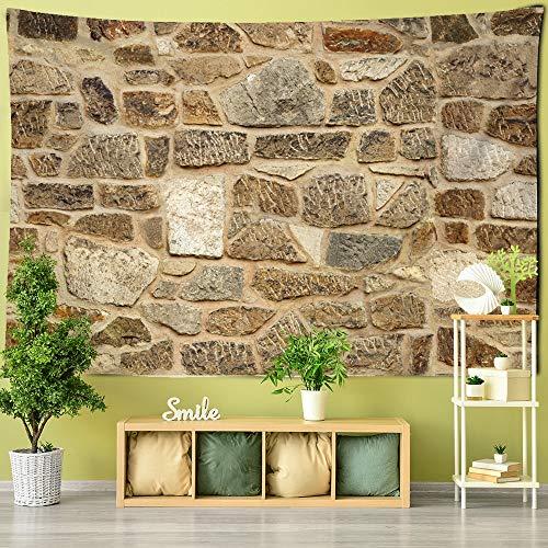 Tapiz divertido nórdico mármol tapiz simulación piso azulejo decoración hogar granja pared decoración multicolor piedra ladrillo manta
