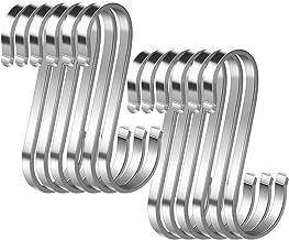 M, Gew/öhnlicher Stil Morbuy 12 St/ück Silber 304 Edelstahl Haken S-f/örmige Anti-Rost Metall Kleider Kleiderb/ügel Metall Haken f/ür K/üche Badezimmer Schlafzimmer Verwenden S Haken