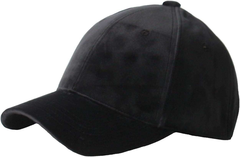 RaOn B182 Velvet Silk Fabric Feel Basic Simple Ball Cap Baseball Hat Truckers