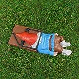 JKKJ Figuras coleccionables de gnomo zombi enano de hada para jardín, decoración de jardín, porche, patio, interior o exterior