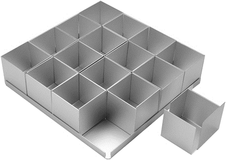 Alan Silverwood 16 piece Square Multi Cake Pan Set 2