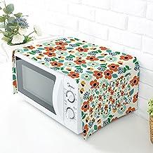 HZC30-B - Funda protectora para horno de microondas con tela de lino y algodón 3#