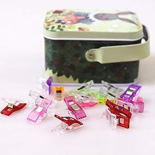 quilting Clips, Lot de 100 Multicolore Wonder Clips avec boîte métallique comme Faric vos Clips, clips de couture, matelas...