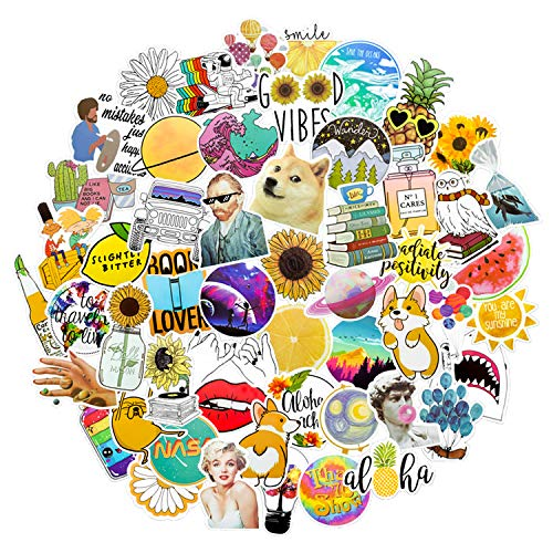 Nature Variety Vinyl Sticker 53 Pack   Perfect for Water Bottles, Phone Cases, Computers and Much More!   Waterproof & Easily Removable