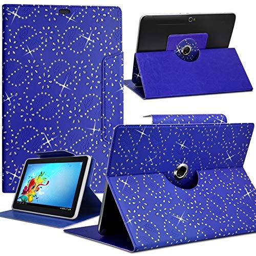 Karylax - Funda universal para tablet Alcatel One Touch Pixi de 7 pulgadas, diseño de diamantes, color azul