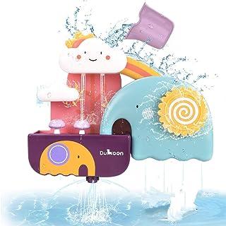 Konig Kids Baby Bathtub Toy Elephant Waterfall Fill Spin and Flow Splashing Bath Toy Set