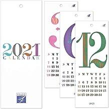 HANABUSA(はなぶさ) 2021 小型壁掛けカレンダー D(レトロ&モダン) カラフル