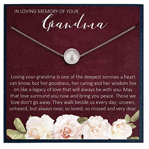 Collar conmemorativo con recuerdo de la abuela para regalar a la abuela en recuerdo para la abuela que fallece, regalo conmemorativo, regalo de simpatía, joyería conmemorativa, pérdida de la a