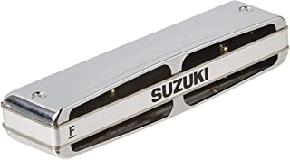 Suzuki MR-350V-LF Promaster Valved Deluxe 10-Hole Diatonic Harmonica, Key of F Low