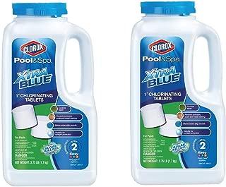 CLOROX Pool&Spa XtraBlue Chlorinating Tablets 23001CLX, Pack of 2