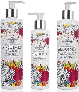 Champú + Acondicionador + Mascarilla Protección Color, Hidratación, y Antiencrespamiento - Sin Parabenos Sin Sulfatos Sin Siliconas - Antioxidante y Anti Frizz - Aceites Naturales Alquimix