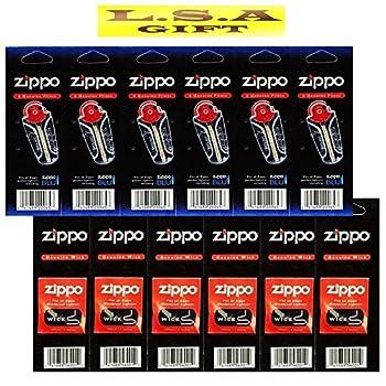 Zippo Lighter 6 Flints 6 Wicks Pack of 12 Value Packs  1