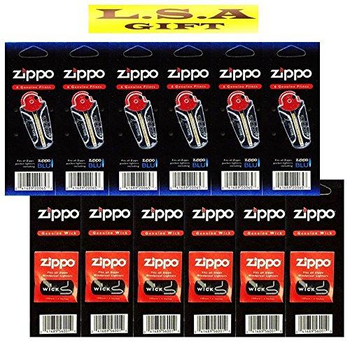 Mechero Zippo de 6 mechas, 6 mechas, paquete de 12 paquetes de valor (1)