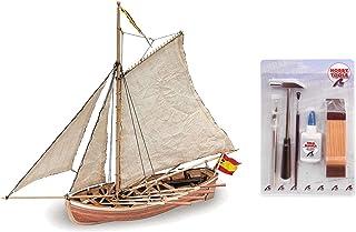 Artesania Latina 18010. Maqueta de barco en madera. Lancha del San Juan Nepomuceno. Escala 1/25 + Multiherramienta 4 en 1