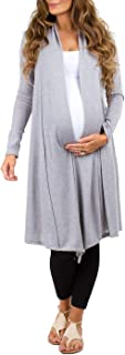 Women's Long Draped Maternity and Nursing Cardigan - Made in USA