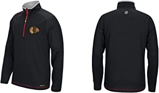 Reebok Men's NHL Chicago Blackhawks Center Ice 1/4 Zip Sweatshirt