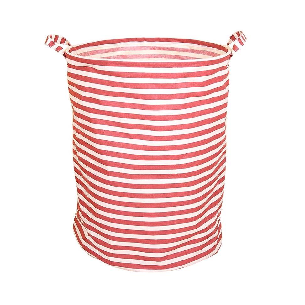 スロープ不公平侮辱BUYUE ランドリー バスケット 大容量60L 洗濯かご 綿麻布製 折りたたみ 撥水加工 ランドリー収納 約39×高さ50cm レッド