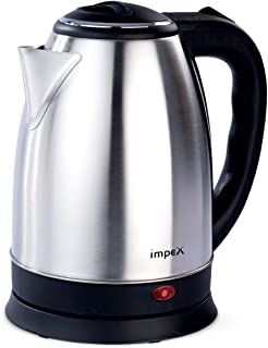 Impex Steamer 1501 1500W 1.5 Litres Stainless Steel Electric Kettle with Triple Thermostat, Auto off, Silver