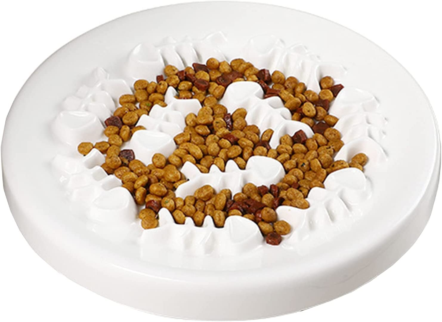 VISICASA Ceramic 67% OFF of fixed price Cats Bowls,Ceramic Tulsa Mall Dogs Feeder Cat Bowls Slow