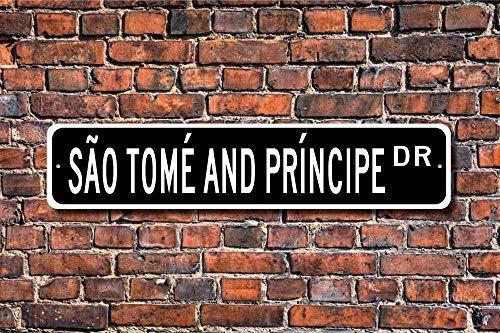 aqf527907 Metalen Stree Teken Sao Tome en Principe Teken Souvenir Inheemse Aluminium Wall Poster Yard Hek Teken