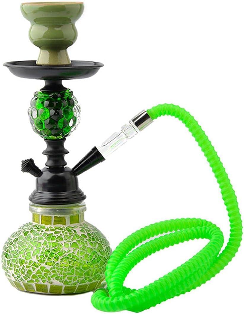 DBKJ Glass Hookah Shisha Set para Boyfriend Padre Marido O Amigo Regalo(Color:Verde)