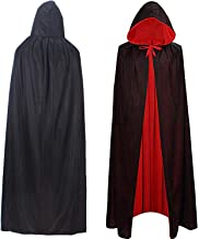 QHamThim Unisex Boy Halloween Christmas Witch Party Reversible Hooded Adult & Kids Vampires Cape Cloak
