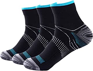 Compression Athletic Socks Women & Men, for Running, Sports, Athletic, Gym Etc. 3Pairs