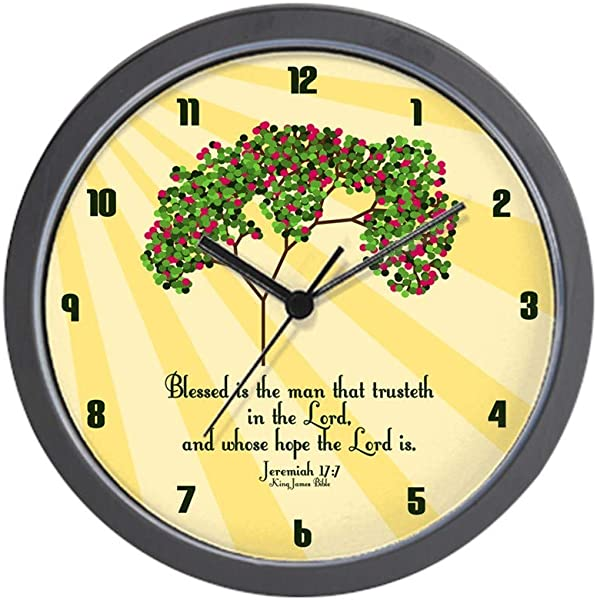 CafePress Jeremiah 17 7 Bible Verse Unique Decorative 10 Wall Clock
