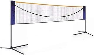 Heqianqian Badminton nät hopfällbara 6 m badminton nät utomhussport volleyboll tennisnät med ramstativ sportnät