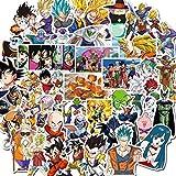 100PCS Dragon Ball Stickers Anime Goku Sticker Etiqueta de dibujos animados a prueba de agua para equipaje Botella Laptop Phone Case Skateboard Stickers Kids Fans Gift, 50 Style