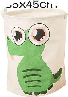 Krystal_wisdom Laundry Basket Large Hamper Foldable Bag for Dirty Clothes Organizer Laundry Bag Picnic Baskets Print Toy Gift Organizer,Green