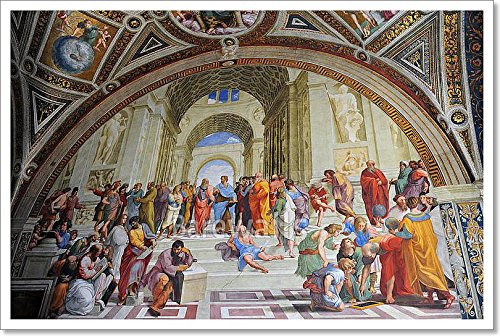 Barewalls Painting by Artist Rafael in Vatican, Rome, Italy Paper Print Wall Art (16in. x 24in.)