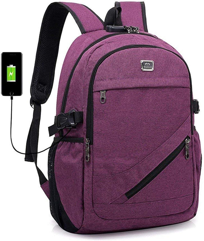 Hulday Daypacks Erwachsene Stylisch Vintage Backpack Freizeit Business Travel Einbrecher Lock Einfacher Stil Rucksack Schnittstelle Student Wasserdichte Schultasche