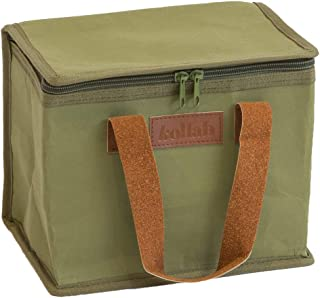 Washable Kraft Paper Insulated Lunch Box in Olive by KOLLAB