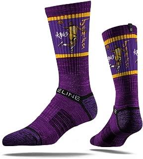 NBA Los Angeles Lakers Strideline Player Crew Socks , LeBron James Yellow , LeBron James Yellow