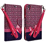 Galaxy Wireless Compatible for ZTE Grand Xmax+ Z987 / Grand Xmax Z787 Case Slim Leather Flip Cover Case for ZTE Grand Xmax (Cricket) (HOT Pink Cheetah)
