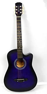 38 inch MIKE MUSIC Acoustic Guitar with Bag and Strap (purple)
