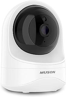 【令和最新型】MUSON GEAR1 ネットワークカメラ Wifi 1080P 広角 200万画素 監視カメラ 小型 防犯 ワイヤレス IPカメラ ペットカメラ ベビー/老人/ペット見守り 動体検知 双方向音声 暗視撮影 警報通知 遠隔操作 モバイル电源サポート 日本語説明書付き