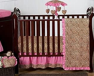 cheetah print crib set