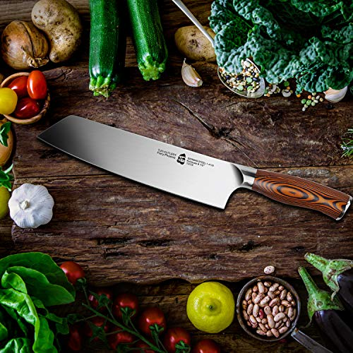 TUO Kiritsuke Chef Knife - 8.5 inch Japanese Vegetable& Meat Slicing Knife - German Stainless Steel - Pro Chefs Kitchen Knife with Ergonomic Handle