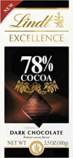 Lindt Excellence Bar, 78% Cocoa Dark Chocolate, 3.5 Ounce (Pack of 12)