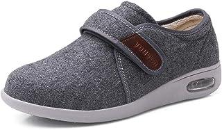 B/H Chaussures DiabéTiques Hommes Chaussons,Chaussures pour Personnes âgées Automne/Hiver, Chaussures pour Hommes Chaudes ...