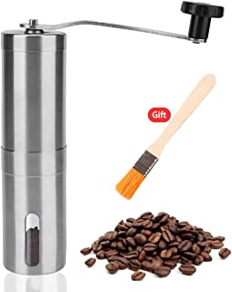 Manual Coffee Grinder Adjustable Ceramic Conical Burr Coffee Bean Mill Setting for Aeropress,Drip Coffee,Espresso,French Press,Turkish Brew for Office Home,Travel Camping