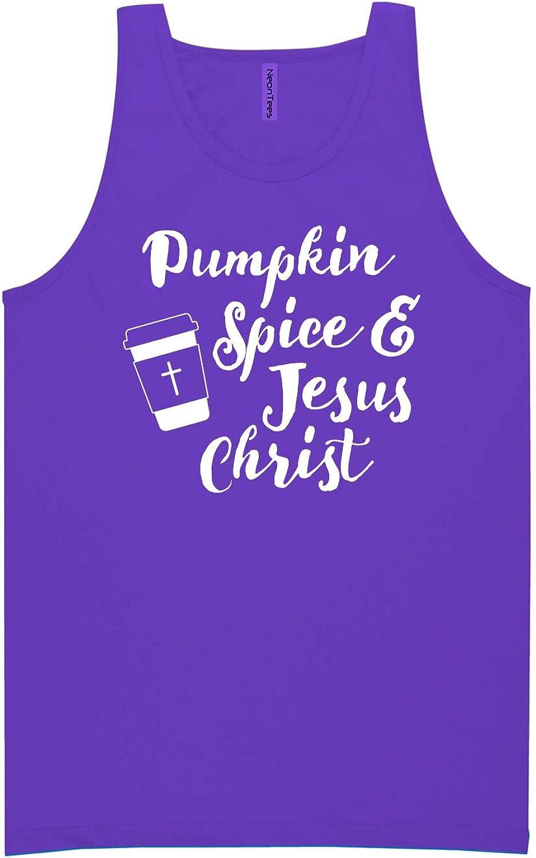 Pumpkin Spice & Jesus Christ Neon Purple Tank Top - XX-Large