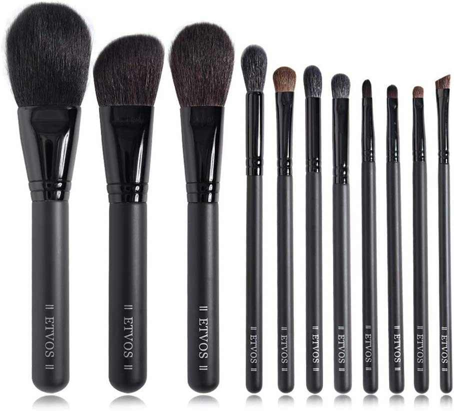 Make Up Brushes Matte Black Ranking TOP2 Set Makeup Natural Goa 11Pcs Outlet ☆ Free Shipping